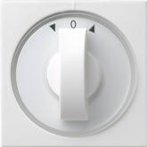 Afdekking met draaiknop voor tijdschakelaars en jaloezieschakelaars resp. -knoppen