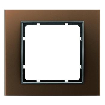 Aluminium bruin geëloxeerd, binnenring antraciet mat