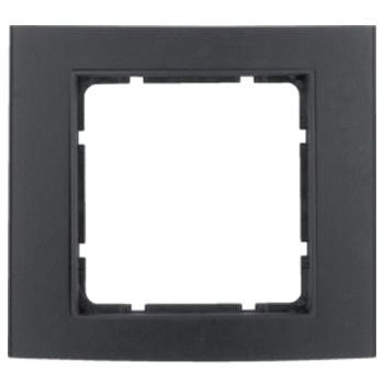 Aluminium zwart geëloxeerd, binnenring antraciet mat