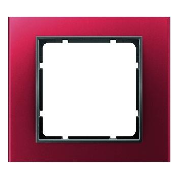 Aluminium rood geëloxeerd, binnenring antraciet mat