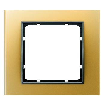 Aluminium goud geëloxeerd, binnenring antraciet mat