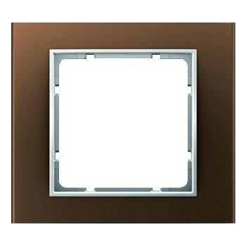 Aluminium bruin geëloxeerd, binnenring polarwit mat