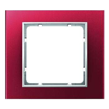 Aluminium rood geëloxeerd, binnenring polarwit mat
