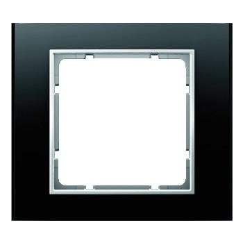 Aluminium zwart geëloxeerd, binnenring polarwit mat
