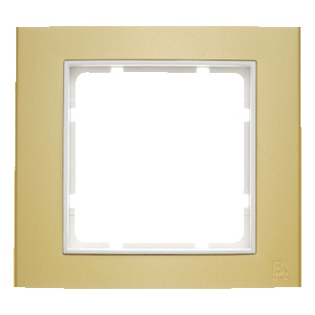 Aluminium goud geëloxeerd, binnenring polarwit mat