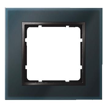 Glas zwart, binnenring antraciet mat