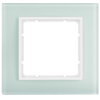 Glas polarwit, binnenring polarwit mat