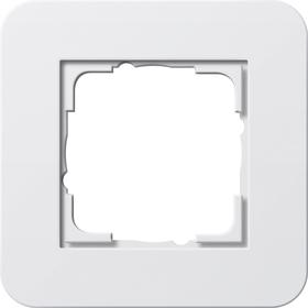 Afdekramen Gira E3 Zuiver wit glanzend met draagframe zuiver wit glanzend