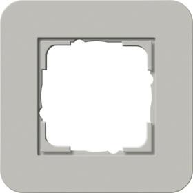 Afdekramen Gira E3 Grijs Soft-Touch met draagframe antraciet