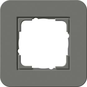 Afdekramen Gira E3 Donkergrijs Soft-Touch met draagframe antraciet