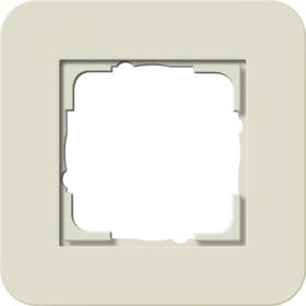 Afdekramen Gira E3 Zand Soft-Touch met draagframe zuiver wit glanzend