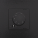 Bakelite-look piano black coated