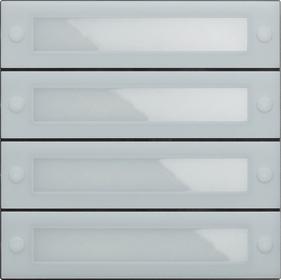 System 106 belknopmodule 4-voudig met inbedrijfstellingstoets