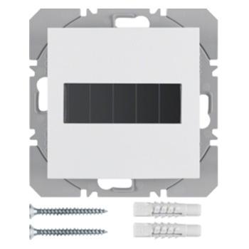 Vlakkewand-drukknop 1-voudig met zonnecel