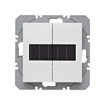 Vlakkewand-drukknop 2-voudig met zonnecel