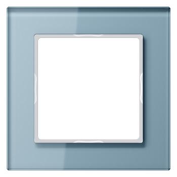 Glazen raam Blauwgrijs
