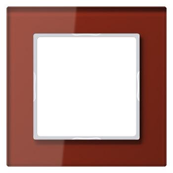 Glazen raam rood