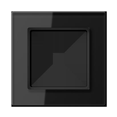 Glazen raam, zwart