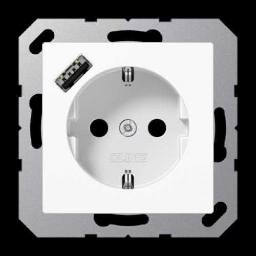 Wandcontactdoos USB-laadcontact type A