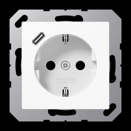 Wandcontactdoos USB-laadcontact type C