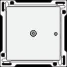 Niko 101-77001 Afwerkingsset voor 1-kanaals inbouw RF-ontvanger met enkelpolig (potentiaalvrij) schakelcontact of inbouw RF-ontvanger met rolluikfunctie, White