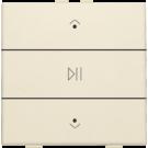 Niko 100-52073 Enkelvoudige audiobediening met leds voor Niko Home Control Cream