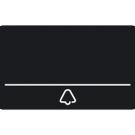 Niko 550-22091 Vervangbare reservenaamplaat voor de Niko Home Control videobuitenpost met één aanraaktoets