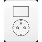 Niko 101-62816 combinatie van wisselschakelaar en wandcontactdoos met randaarde, volledig apparaat incl. afdekplaat,  White