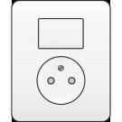 Niko 101-62416 combinatie van wisselschakelaar en wandcontactdoos, volledig apparaat incl. afdekplaat, White