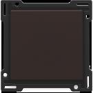Niko 124-31001 afwerkingsset voor drukknopdimmer, Dark brown