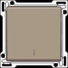 Niko 123-31001 afwerkingsset voor drukknopdimmer, Bronze