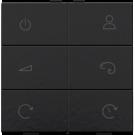 Niko 200-90001 Draadloze RGB(W)-wandbediening RF, Bakelite piano black coated