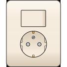Niko 100-62816 combinatie van wisselschakelaar en wandcontactdoos met randaarde, volledig apparaat incl. afdekplaat, Cream