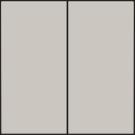 Niko 102-31004 Afwerkingsset voor dubbele elektronische schakelaar of drukknop, Light grey