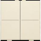 Niko 100-00007 Huisautomatisering - tweevoudige toets voor draadloze schakelaar of drukknop met 4 bedieningsknoppen, Cream
