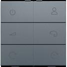 Niko 220-90001 Draadloze RGB(W)-wandbediening RF, Alu grey coated