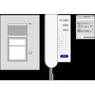 Niko 10-085 Toegangscontrole - Audiokit met inbouwbuitenpost met één beldrukknop, voeding en binnenpost met hoorn, voorgeprogrammeerd