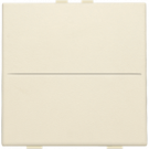 Niko 100-00001 Huisautomatisering - enkelvoudige toets voor draadloze schakelaar of drukknop met 2 bedieningsknoppen, Cream