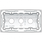Niko 101-77500 Dubbele opbouwdoos voor alle inbouwapparaten uit de Original-reeks, White