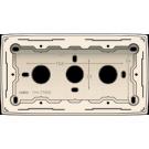 Niko 100-77500 Dubbele opbouwdoos voor alle inbouwapparaten uit de Original-reeks