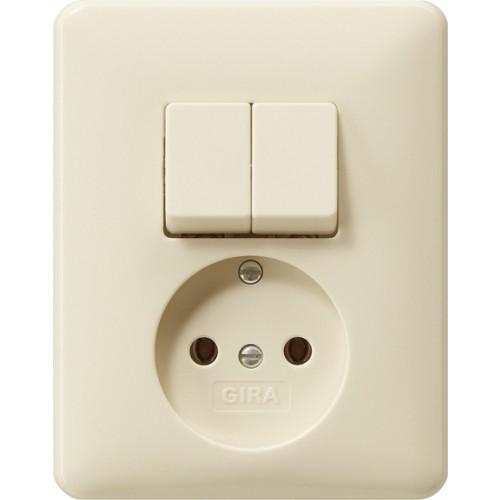 gira 047501 combinatie schakelaar wcd zonder aardcontact. Black Bedroom Furniture Sets. Home Design Ideas